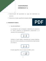 LABORATORIO FISICA 2 - INFORME 11 CALOR ESPECIFICO.docx