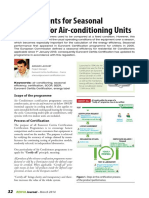 Requirements for Seasonal Efficiency for Air-conditioning Units