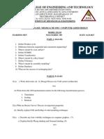 me6305 cad mdel exam question