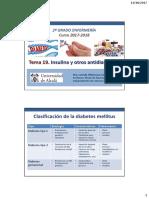 Tema 19. Insulina y Otros Antidiabéticos
