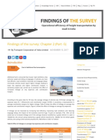 Findings of the survey bY TCIL