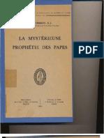 La Mystérieuse Prophétie des Papes