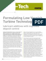 Lube Tech87 FormulatingLowVarnishTurbineTechnologyLubricantadditiveswithimproveddepositcontr