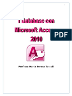 Appunti Microsoft Access 2010 - 2017-01-04