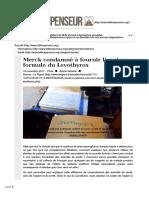 2017-Merck condamné à fournir l'ancienne formule du Levothyrox.pdf