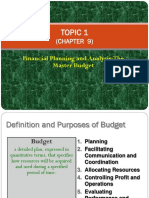 Topic 1 Budgeting