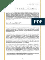 La Nueva Ley de Contratos Del Sector Publico