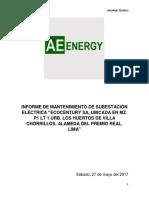 Informe de Mantenimiento de Subestación Eléctrica