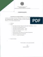 CONVOCAÇÃO 42ª RO - 08-11-2017