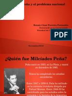 Milcíades Peña y el problema nacional (Presentación)