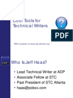 Cool Tools for Technical Writers