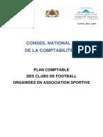 Projet de Plan Comptable Des Clubs de Football Organisés en Association