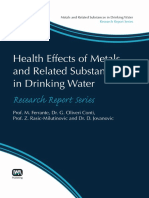 (Metals and Related Substances in Drinking Water Research Rep) M. Ferrante, G. Oliveri Conti, Z. Rasic-Milutinovic-Health Effects of Metals and Related Substances in Drinking Water-IWA Publishing (201