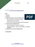Elaboración carta de presentación