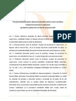Procedura Depunere Dosar Inregistrare Sau Mentiuni Forma de Exercitare (Votata in 06.10.2017)