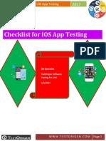Checklist for IOS App Testing