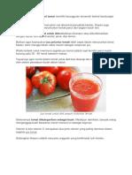 jUs Diet Yang Terbuat Dari Tomat