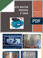 Nameplate Motor Induksi