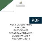 ACTA DE CÓMPUTO NACIONAL DEPARTAMENTALES-MUNICIPALES 201