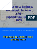Household Income and Expenditure Survey 2009 in PNG