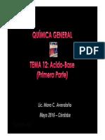 Teorico equilibrio quimico Acido Base