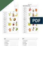 Articulos El - La Vocabulario Frutas