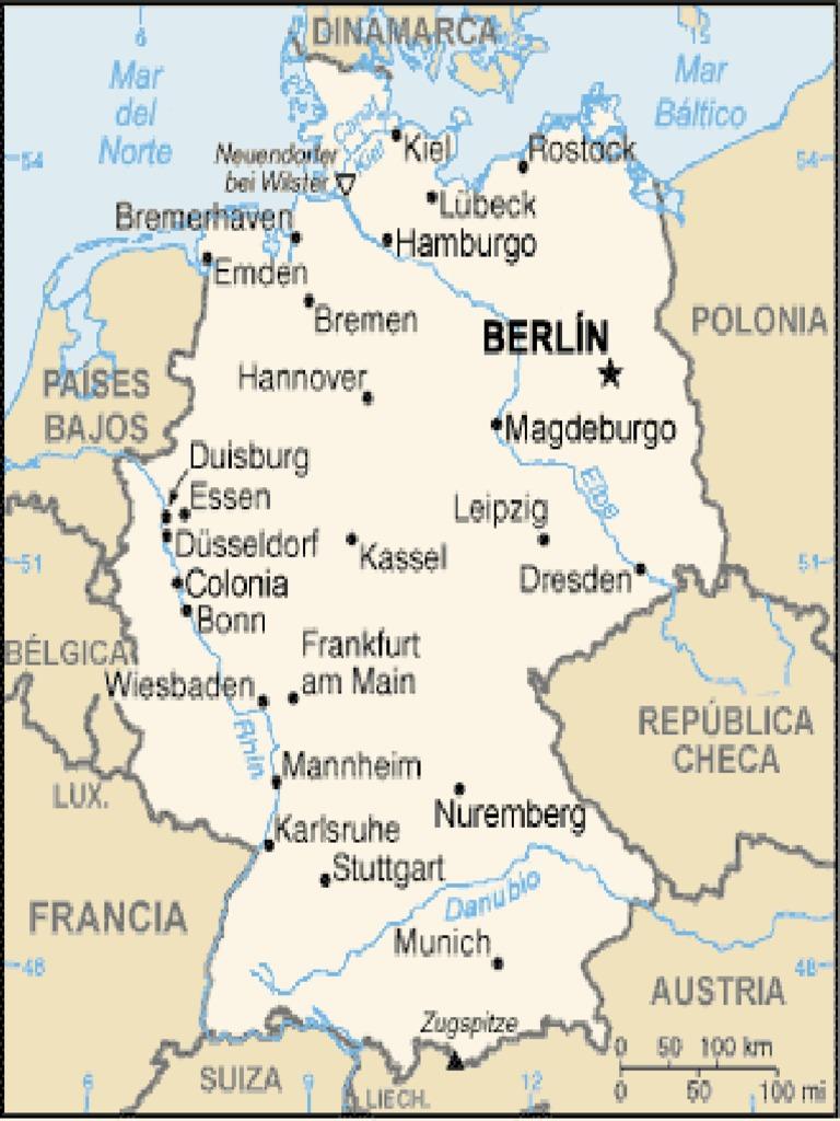 Mapa De Alemania Ciudades.Mapa De Alemania Ciudades