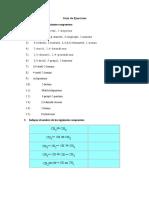 Guía de Ejercicios de Alcanos y Alquenos Y Propiedades Coligativas
