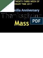 Mass (Familia Thanksgiving Mass)