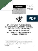Paunero Et Al 2015 La Ocupacion Pleistocenica de Cueva Tune (1)