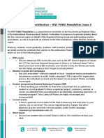 IPSF PARO Newsletter, Issue 5 - Call for Article Contributions (English)