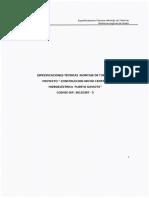 Espec. Tecnicas Montaje de Tuberias Microcentral Gaviota