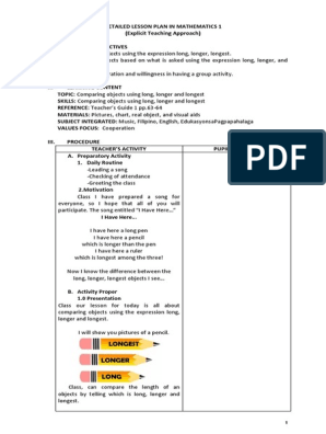 LESSON_PLAN_IN_MATHEMATICS_1 docx | Lesson Plan | Quality Of Life