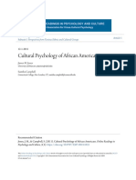 Cultural Psychology of African Americans