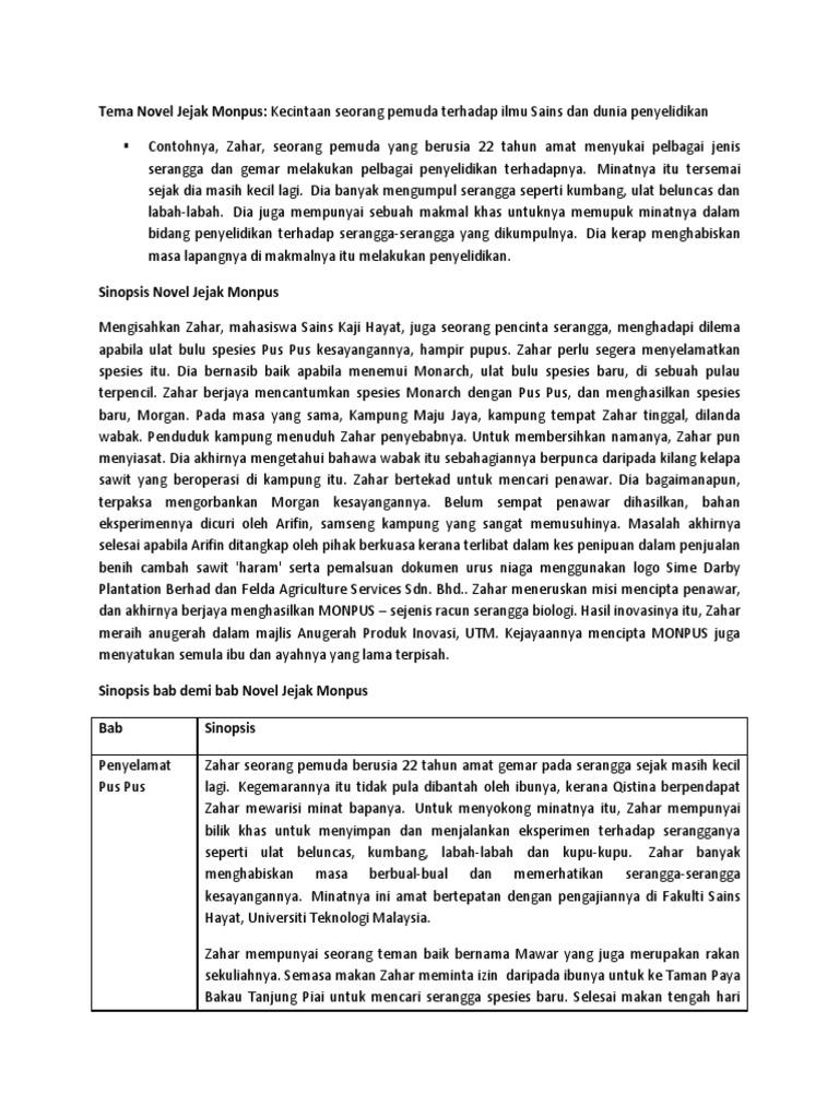 Contoh Jawapan Novel Jejak Monpus Sumpah K