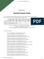 Ancient Greek Fonts