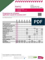 Intercites Centre-Val de Loire Grève du 23-11-2017