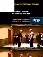 Systema Defense Against Straight Punch - Screenshots from a demo video