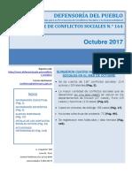 Reporte Mensual de Conflictos Sociales N 164 Octubre 2017