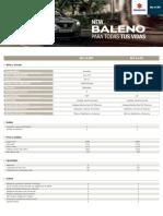 Ficha Técnica Suzuki  Baleno