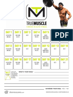 True Muscle Calendar