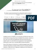 Install Laravel on CentOS 7 – RoseHosting Blog