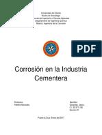Corrosion en La Industria Cementera