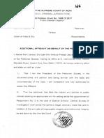 Additional Affidavit Against Asthana