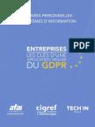 CIGREF GT AFAI CIGREF TIF Donnees Personnelles Et Systemes d Informations GDPR 2017