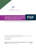 Paracetamol y AINEs en OMA-Cochrane