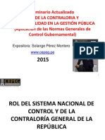 Rol de La Contraloria y Responsabilidad en La Gestión Pública