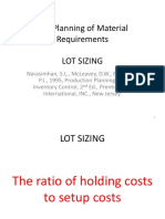 The Planning of Material Requirements 3
