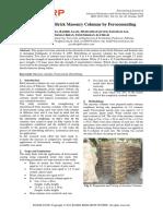 Retrofitting of Brick Masonry Columns by Ferocementing