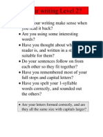 Writing Levels Booklet